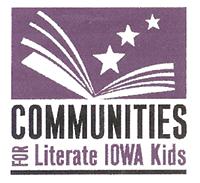 Communities for literate Iowa kids logo