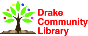 Drake Community Library tree logo