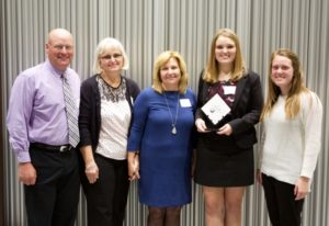 Catelyn Graham was recognized with the inaugural Youth Spirit Award.