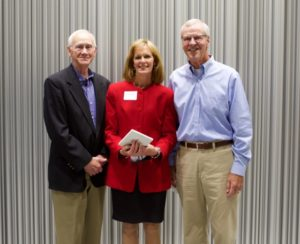 Mary Baker was recognized with  he Mentoring Award in 2015.