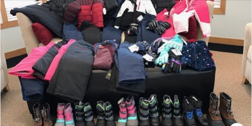 coats and boots from Kevin J. Stark Elementary Student Fund drive